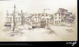 Holyhead sketch by C F Tunnicliffe