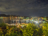 Night view of Falmouth Harbour