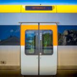 Strömstad railway station:Train bound for Gothenburg