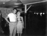Kwaj 1945 Chili Williams the Polka Dot Girl visits VMB613