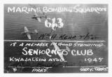 Kwaj 1945 SENIOR NCO CLUB MEMBERSHIP