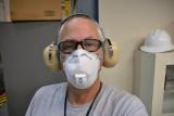 wearing PPE