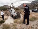 Car Wreck up on Mountain Springs Pass - October 18, 2014
