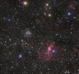 M52 NGC7635 Wide field