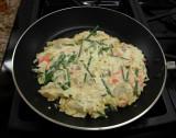 20130623_120826 Okonomiyaki just placed in skillet...