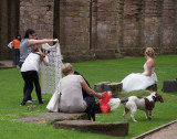 SIL10399 Photographer at work at Fountains Abbey