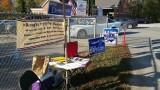 Fletcher Precinct Poll Greeters Cozy Spot