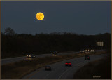Super Moon Over the Interstate
