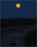 Super Moon Over the Hiway