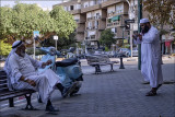Beduin visitors to tel aviv