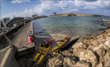 Fisheeye View of Tel Aviv Port