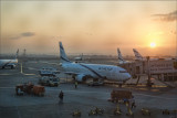 Magic of Ben Gurion Airport at Sunrise.