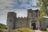 Manorbier Castle entrance.