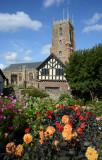 Dunster Church from the Dahlia gardens.