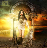 Fashion Photography - Animal Concept with Cheetah