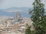 view from Montjuic including Sagrada Familia