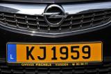Luxmbourg License Plate