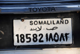 Despite the license plates, no country has recognized Somaliland's defacto independence