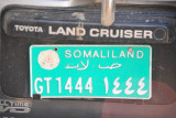 Green government license plate, Somaliland