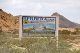 The Berbera Cement Factory's sign if much more functional looking than the factory itself