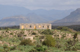 Ruined building at the base of the mountains on the road from Berbera to Sheikh