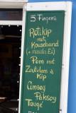 Dutch menuboard at the 5 Fingers