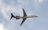 Insel Air MD-83 departing Curaçao (PJ-MDE)