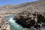View from our picnic site across the Pamir River into Afghanistan