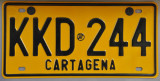 Cartagena License Plate
