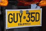 Colombia Motorcycle Plate
