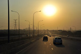 Airport Expressway, late afternoon