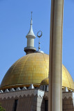 Golden dome of the National Mosque, Abuja
