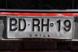 Chile license plate