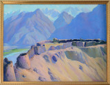 Painting of the Yamchun Fortress in the Wakhan Valley