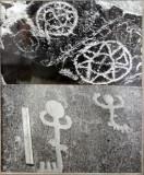 Prehistoric cave art - solarium signs and musical instruments