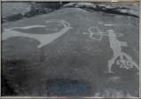 Prehistoric cave art - scene of hunting