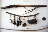 Archaic firearm and man's utility belt