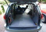 BED SYSTEM 3: Carpeted plywood floor in Toyota Sienna (7936)