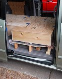 BED SYSTEM 5: Plywood box by sliding door (0663))