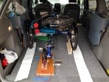 Trike, secured in the car