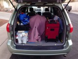 The Green Weenie, packed for a road trip