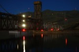 Railroad bridge over the Clearwater River Bridge in Lewiston, Idaho