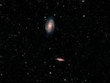 M 81, M 82 et la supernova  2014J