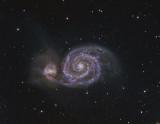 M 51, la Galaxie du Tourbillon