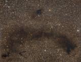 Barnard 62 et  63, grande marque sombre