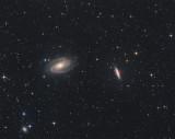 M 81  M 82, les Galaxies de Bode