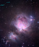 Messier 42 annotée