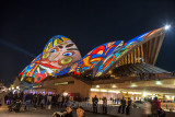 Sydney Opera House with face
