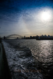 Sydney Harbour from Manly ferry late afternoon