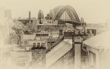 Sydney Harbour Bridge from Rocks using Nik software